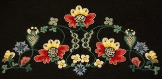 Traditioneel Noors bunadborduurwerk Royalty-vrije Stock Fotografie