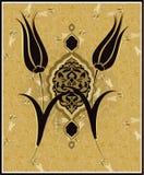 Traditioneel ottoman Turks tulpenontwerp Stock Afbeeldingen