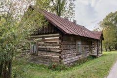 Traditioneel oud blokhuis, Polen Stock Foto