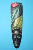 Traditioneel oud geïsoleerda masker Stock Afbeelding