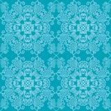 Traditioneel patroon met sneeuwvlokken stock illustratie