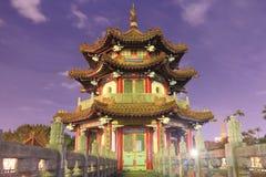 Traditioneel paviljoen bij 228 Vredespark in Taipeh Taiwan Stock Afbeelding