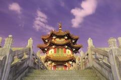 Traditioneel paviljoen bij 228 Vredespark in Taipeh Taiwan Stock Foto's