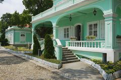 Traditioneel Portugees huis in Taipa-dorp, Macao Stock Fotografie