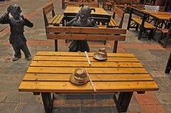 Traditioneel restaurant, Chengdu Stock Foto's