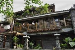 Traditioneel restaurant, Chengdu Royalty-vrije Stock Fotografie