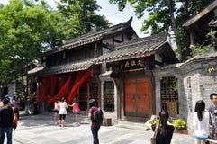 Traditioneel restaurant, Chengdu Royalty-vrije Stock Afbeelding