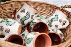 Traditioneel Roemeens aardewerk Stock Fotografie