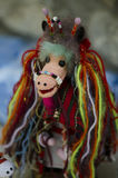 Traditioneel Roemeens masker Stock Foto's