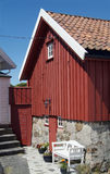 Traditioneel rood huis stock foto's