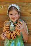 Traditioneel Russisch meisje royalty-vrije stock afbeelding