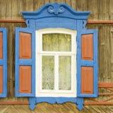 Traditioneel Russisch venster royalty-vrije stock foto