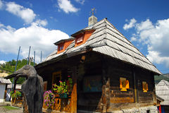 Traditioneel Servisch huis royalty-vrije stock fotografie