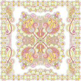 Traditioneel Sier BloemenPaisley Bandana Stock Afbeelding