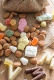 Traditioneel Sinterklaas-suikergoed Stock Foto