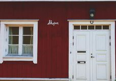 Traditioneel Skandinavisch Huis Royalty-vrije Stock Foto