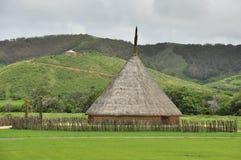 Traditioneel stammenhuis in Nieuw-Caledonië royalty-vrije stock afbeelding