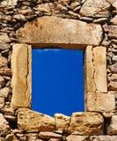 Traditioneel steenvenster Royalty-vrije Stock Afbeeldingen