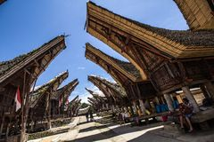 Traditioneel Tana Toraja-dorp Royalty-vrije Stock Afbeeldingen