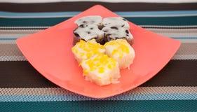 Traditioneel Thais Dessert op Plaat Royalty-vrije Stock Foto's