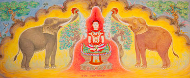 Traditioneel Thais stijlart. Stock Afbeelding