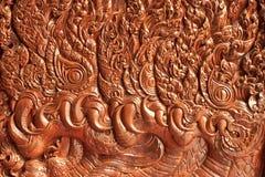 Traditioneel Thais stijlhoutsnijwerk Royalty-vrije Stock Afbeeldingen