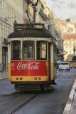 Traditioneel tramspoor in Lissabon Stock Afbeelding