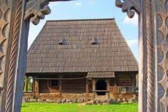 Traditioneel transylvanian huishouden Stock Afbeeldingen