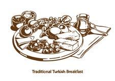 Traditioneel Turks ontbijt stock afbeeldingen