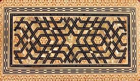 Traditioneel Turks patroon op houten doos stock afbeeldingen