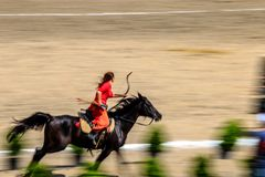 traditioneel Turks spel, speer of Uitgejouwde sport royalty-vrije stock fotografie