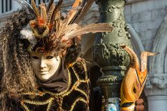 Traditioneel Venetiaans Carnaval-kostuummasker royalty-vrije stock foto