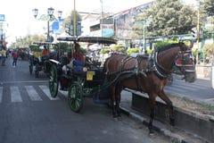 Traditioneel vervoer Indonesië Stock Foto