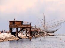Traditioneel visserijhuis Royalty-vrije Stock Afbeelding