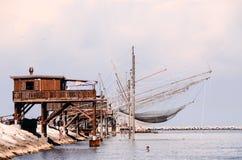 Traditioneel visserijhuis Stock Afbeeldingen