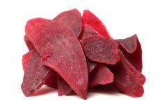Traditioneel voedsel - Droge purpere bataat stock foto's