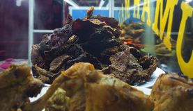 Traditioneel voedsel Empal Dendeng padang Royalty-vrije Stock Afbeelding