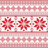 Traditioneel volks rood borduurwerkpatroon van de Oekraïne of Wit-Rusland - Vyshyvanka Royalty-vrije Stock Foto