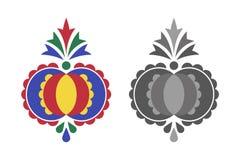 Traditioneel volksornament, het Moravian-ornament Royalty-vrije Stock Fotografie