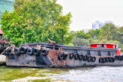 Traditioneel Vrachtschip in Bangkok Thailand royalty-vrije stock foto