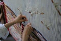 Traditioneel wevend weefgetouw Stock Fotografie