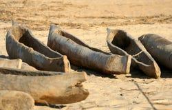 Traditioneel woden visserijpirogues royalty-vrije stock afbeelding