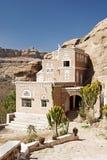 Traditioneel yemeni huis dichtbij sanaa Yemen royalty-vrije stock afbeeldingen