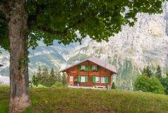 Traditioneel Zwitsers Chalet in de beroemde Zwitserse skitoevlucht van Murray royalty-vrije stock fotografie