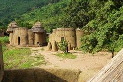 Traditionel Afrikaanse huizen van tamberma - werelderfenis van Togo royalty-vrije stock foto