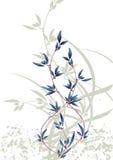 Traditionele abstracte bloemen van Japan Royalty-vrije Stock Afbeelding