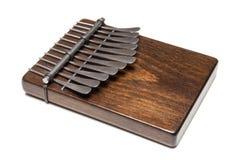 Traditionele Afrikaanse instrumentenkalimba of duimpiano Stock Afbeelding