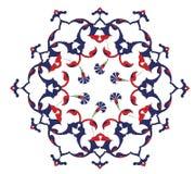 Traditionele antieke ottoman Turkse tegel illustrat royalty-vrije illustratie