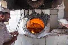 Traditionele Arabische bakkerijwinkel Stock Foto