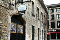 Traditionele architectuur in Oud Montreal, Canada stock afbeeldingen